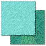 Turquoise patchwork fabric
