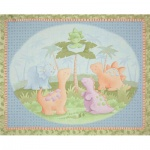 Cute a Saurus patchwork fabric