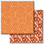 Orange patchwork fabric