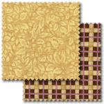 Cream and brown patchwork fabric