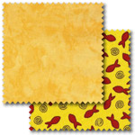 Yellow patchwork fabric