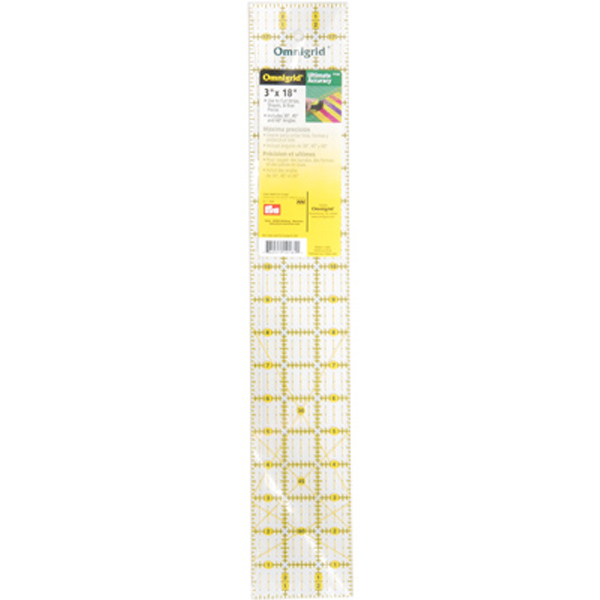 Omnigrid long quilting ruler 3 inch by 18 inch