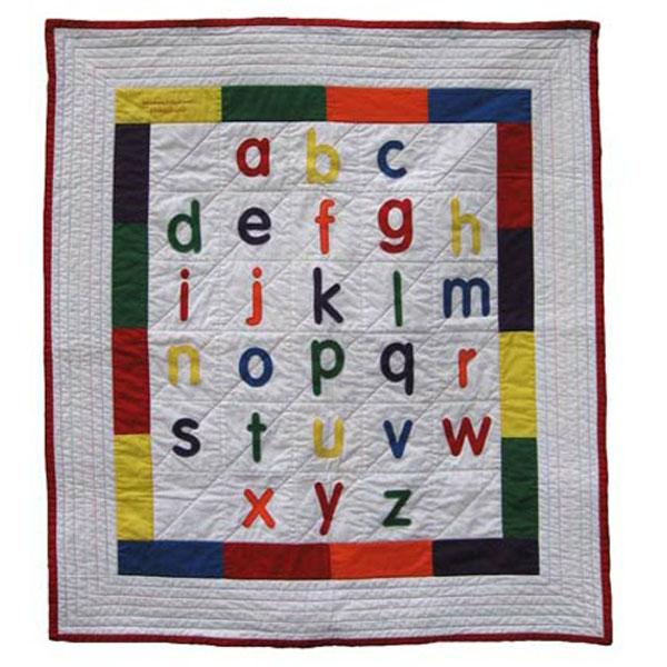 Alphabet Templates For Quilting : Alphabet cot quilt kit