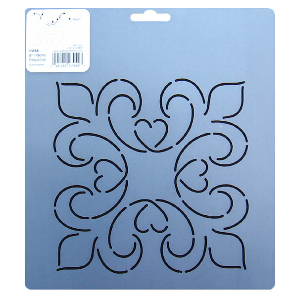 Quilting With Stencils : HW55 Elegance block quilting stencils 6 inch