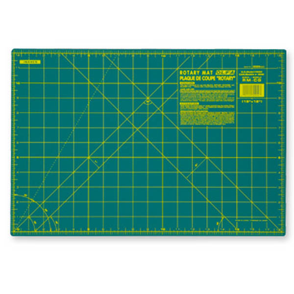 Olfa Rotary Cutting Mat 12 Inch By 18 Inch Small Self