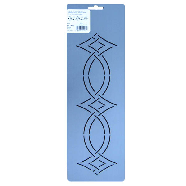 Quilting Stencils Borders Free : SN23 3.25 inch cable border quilting stencil