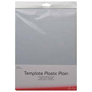 Plain template plastic for patchwork templates and quilting stencils