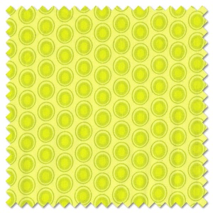 Oval Elements - green apple (per 1/4 metre)