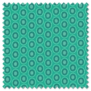 Oval Elements - blue lagoon (per 1/4 metre)