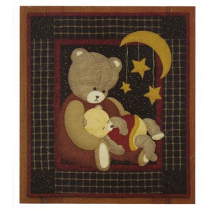 Baby bear wallhanging quilt kit (13inch x 15inch)