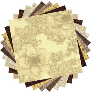 Brown and cream prints 20 charm pack