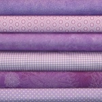 Purple colour coordinates 6 fat quarter pack