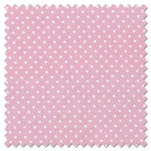 Basics - white on pink dots (per 1/4 metre)