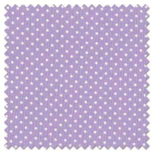 Basics - white on lilac dots (per 1/4 metre)