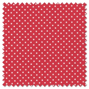 Basics - white on red dots (per 1/4 metre)