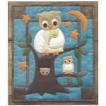 Owl Family wallhanging quilt kit (13inch x 15inch)