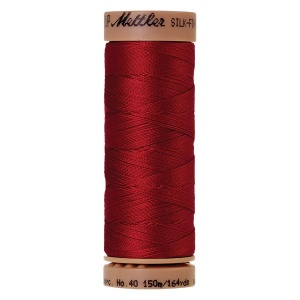 0504 - Country red Mettler Silk Finish 40 quilting thread 150m