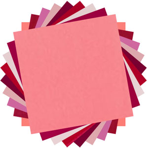 Solids reds & pinks charm pack
