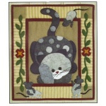 Spotty Cat wallhanging quilt kit (13inch x 15inch)