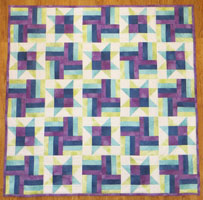 Cool rainbow quilt free pattern