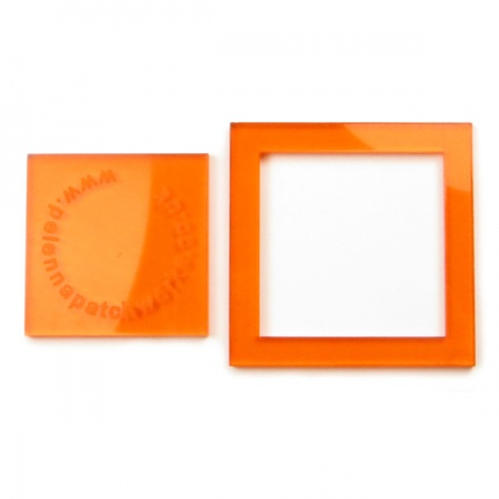 Acrylic square templates - 1.5 inch