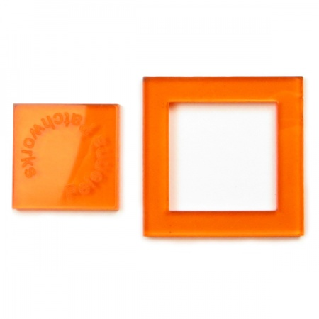 Acrylic square templates - 1 inch