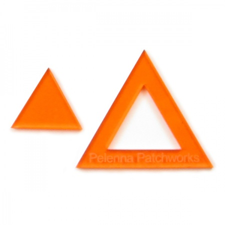 Acrylic triangle templates - 1 inch