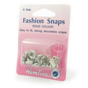 11mm silver fashion snaps