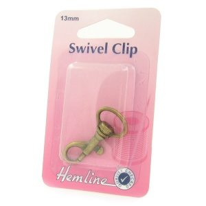 13mm swivel clip (bolt snap) - antique bronze