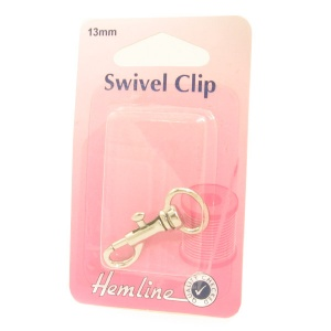 13mm swivel clip (bolt snap) - silver