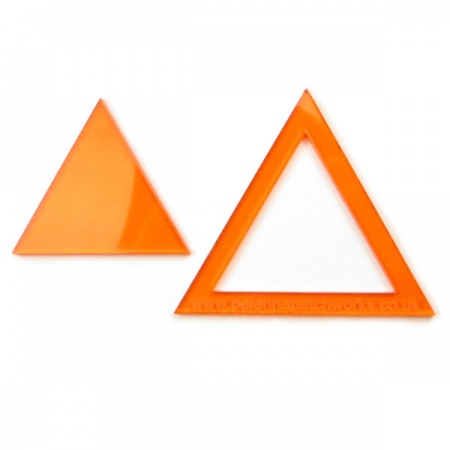 Acrylic triangle templates - 2 inch