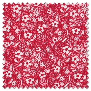 Farm Charm - flower sack rooster red (per 1/4 metre)