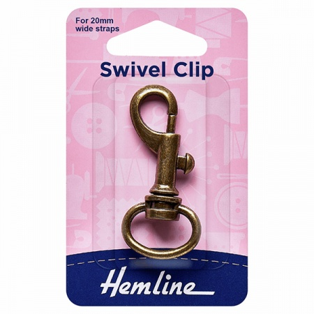 20mm swivel clip (bolt snap) - antique bronze