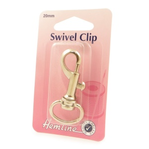 20mm swivel clip (bolt snap) - silver