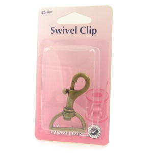 25mm swivel clip (bolt snap) - antique bronze