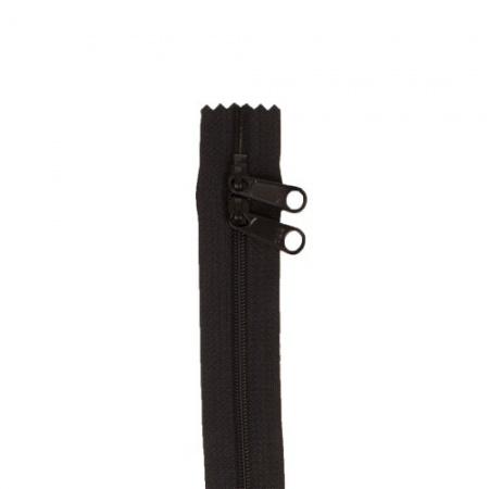 Byannie Double Slide Handbag Zip 30 Inch Black