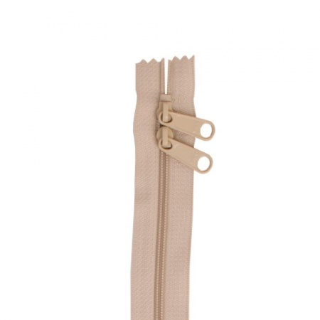 ByAnnie double slide handbag zip 30in - natural