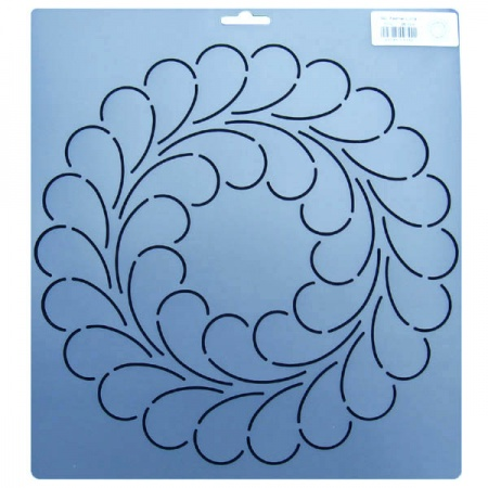 342 Feather circle quilting stencils 10.5 inch