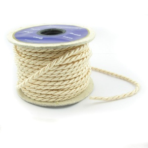3mm cream twisted cord by the metre