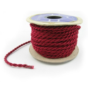 3mm red twisted cord by the metre