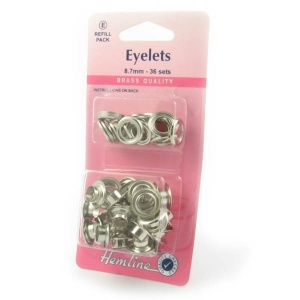 8.7mm silver eyelets