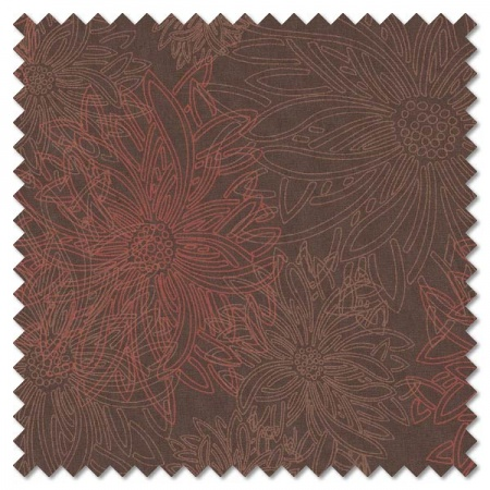 Floral Elements - spicy brown (per 1/4 metre)