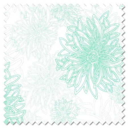 Floral Elements - icy blue (per 1/4 metre)
