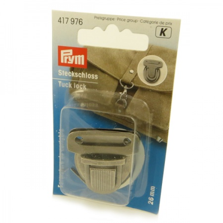 Prym 26mm antique silver tuck lock bag fastening