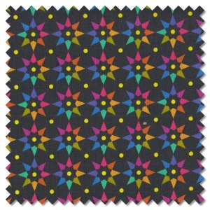 Art Theory - rainbow star night (per 1/4 metre)