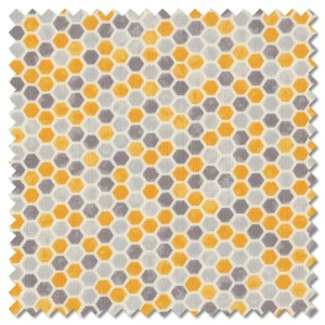 Bee Grateful - honeycomb dove grey (per 1/4 metre)