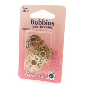 Metal sewing machine bobbin 3 pack - Bernina 8 hole