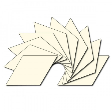 Diamond fabric charm packs - plain cream