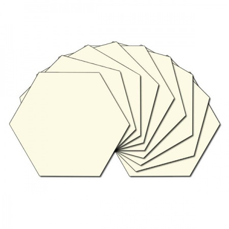 Hexagon fabric charm packs - plain cream