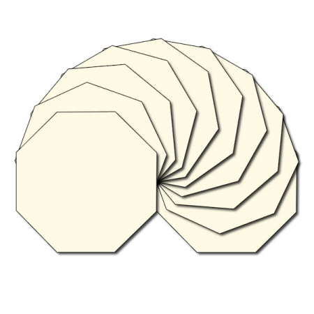 Octagon fabric charm packs - plain cream